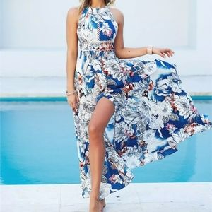 Jaase Endless Summer Bohemian halter Maxi Dress
